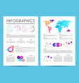 investment analytics with various infographics vector image vector image