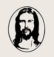 jesus silhouette logo vector image vector image