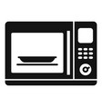 kitchen microwave icon simple style vector image