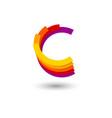 letter c consist dynamic curl shapes vector image
