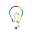 light bulb creative idea vector image vector image