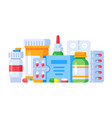 medication drugs medicine pill pharmacy drug vector image