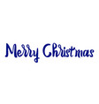 merry christmas text lettering on white vector image vector image