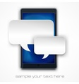 Mobile phone message vector image