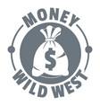 money wild west logo vintage style vector image vector image