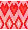 Mosaic heart seamless pattern vector image vector image