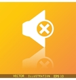 Mute speaker icon symbol Flat modern web design