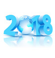 new year 2018 with earth planet vector image vector image
