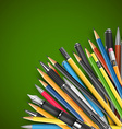 Pen and pencils vector image vector image
