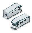 Recreational vehicles for family tourism and vector image vector image