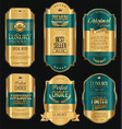retro vintage golden frame background collection 4 vector image vector image