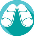 Sandals Icon vector image vector image