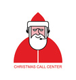 Santa Claus call Center Santa responds to phone vector image vector image
