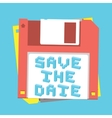 Save the date floppy diskette