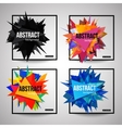 set colorful isolated template poster vector image vector image