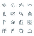 set of 16 happy new year icons includes fishing vector image vector image