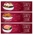 Set of banners for theme chinese cuisine with vector image