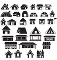 set of tradition home style and other building vector image