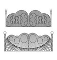 set wrought iron gates and gates made metal vector image vector image