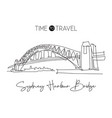 single continuous line drawing sydney harbour vector image vector image