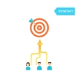 Teamwork concept Arrows from people moving to one vector image vector image
