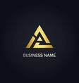 triangle delta shape line company gold logo vector image vector image