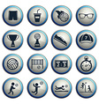 Volleyball simply icons vector image