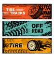 wheels banners tires on road protector car dirt vector image vector image