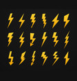 yellow lightning silhouette electrical power high vector image vector image