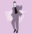 young man dancing new wave music wearing clothes vector image vector image