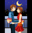 young people celebrating valentine day vector image