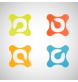 bright abstract shapes on a white background vector image