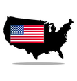 map of the united states with flag vector image