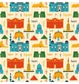 Landmarks of Egypt seamless pattern vector image