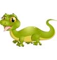 beautiful green lizard vector image