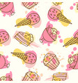 fruits seamless pattern hand drawn vector image