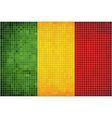 Abstract Mosaic Flag of Mali vector image vector image