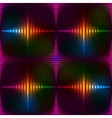 Abstract neon shining background vector image vector image