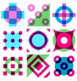 abstract vintage geometric seamless pattern vector image vector image