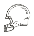american football helmet protection outline vector image vector image