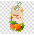 autumn thanksgiving label vector image vector image