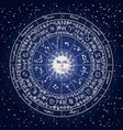 banner with circle zodiac signs and sun vector image