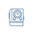 best seller line icon concept best seller flat vector image