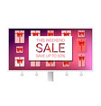 billboard with ads of sale the weekend sale with vector image vector image