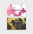business card template with ink background design vector image vector image