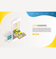 car sharing service landing page website vector image