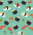 chinese food fresh seamless pattern vector image