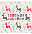 Christmas Deer Pattern Card vector image vector image