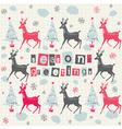 Christmas Deer Pattern Card vector image vector image