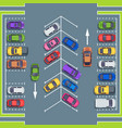 city parking top view park spaces for cars car vector image vector image